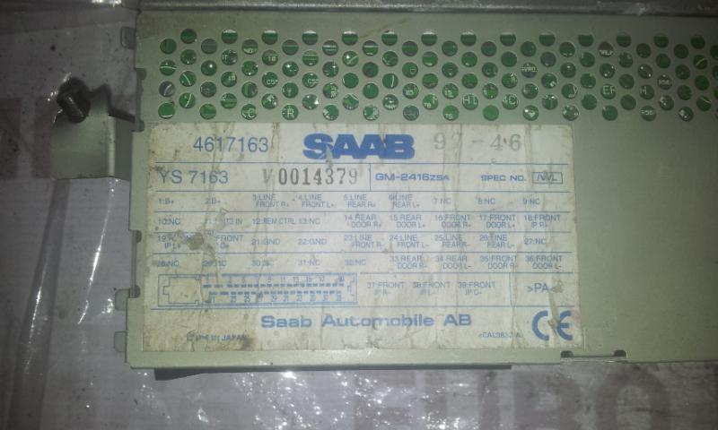 Kiti kompiuteriai 4617163 0014379 SAAB 9-5 1998 2.0