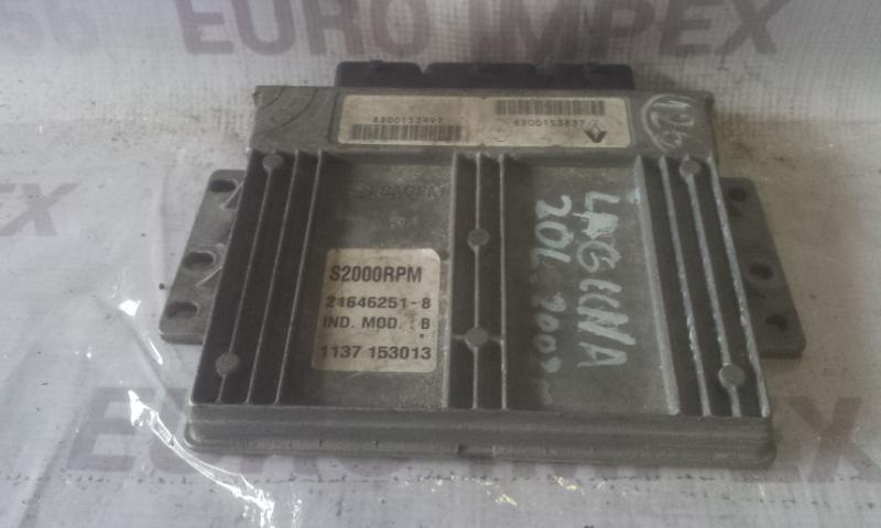 Блок управления двигателем 8200153997 S2000RPM  Renault LAGUNA 2002 1.9