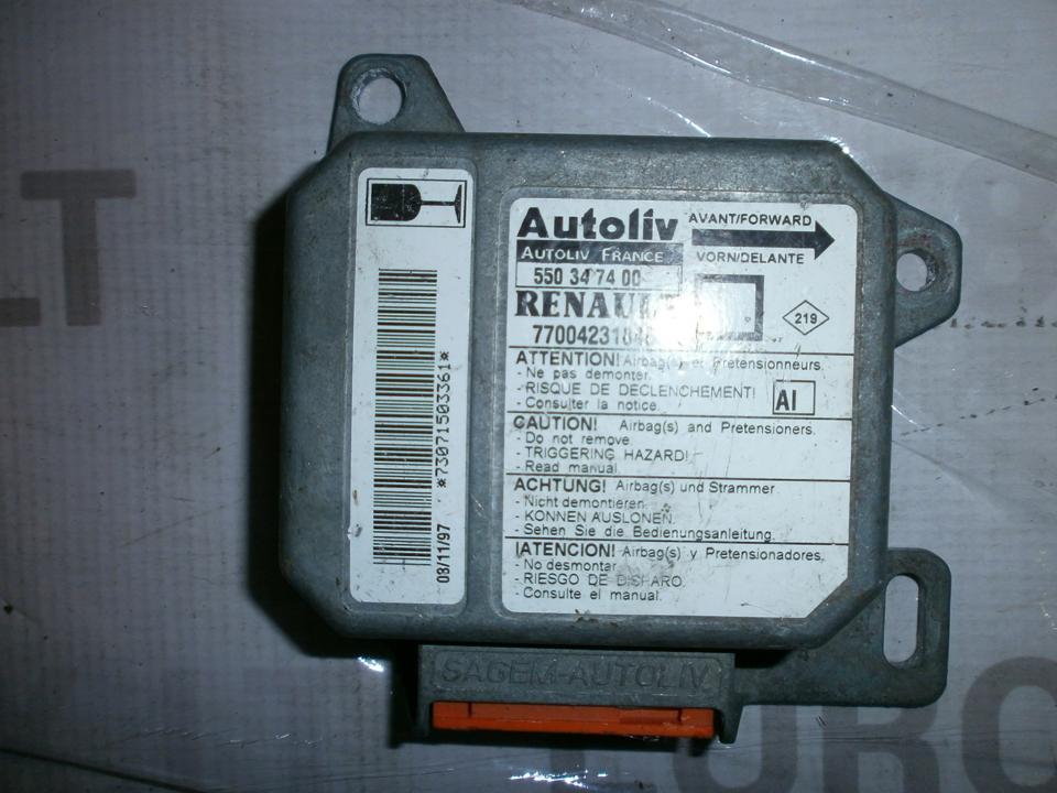 Airbag crash sensors module 7700423184B 550347400  Renault MEGANE SCENIC 1997 1.6