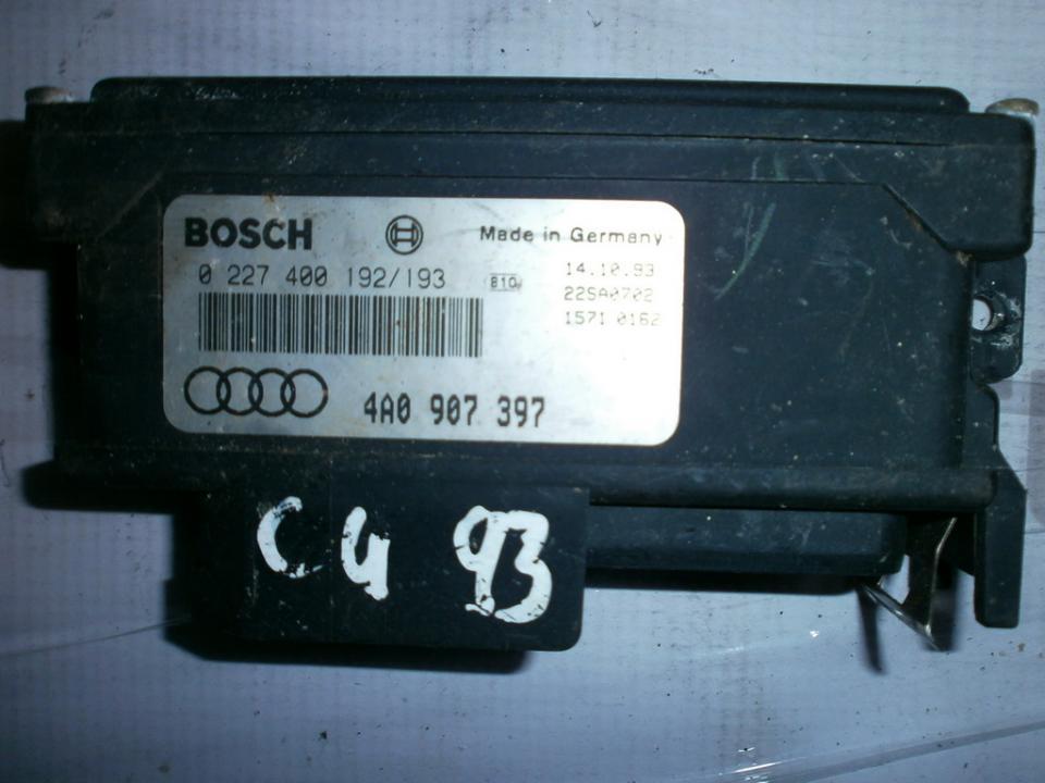 Kiti kompiuteriai 0227400192 02274001923 , 4A0907397 Audi 100 1985 2.0