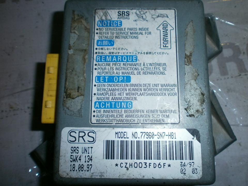 SRS AIRBAG KOMPIUTERIS - ORO PAGALVIU VALDYMO BLOKAS 77960SN7H81 5WK4134 Rover 600-SERIES 1996 2.0
