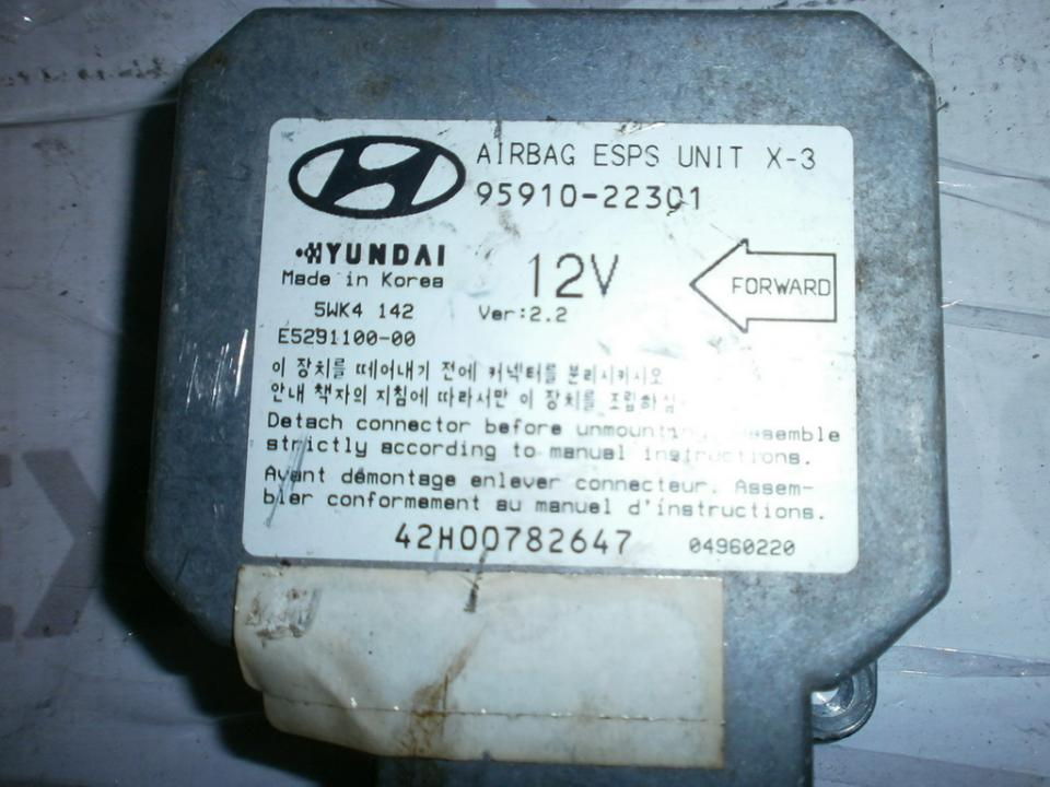 SRS AIRBAG KOMPIUTERIS - ORO PAGALVIU VALDYMO BLOKAS 9591022301 5WK4142 Hyundai ACCENT 1997 1.5