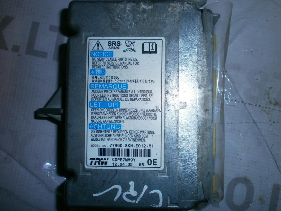 Airbag crash sensors module 77960SKNE012M1 95640  Honda CR-V 2003 2.0