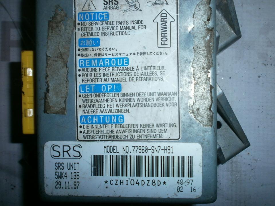 Airbag crash sensors module 77960SN7H91 5WK4135  Honda ACCORD 1996 1.8