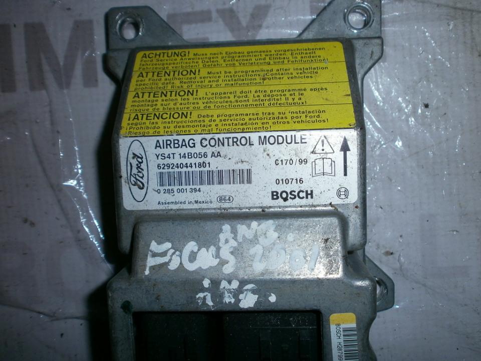 Airbag crash sensors module YS4T14B056AA 0285001394  Ford FOCUS 2015 1.5