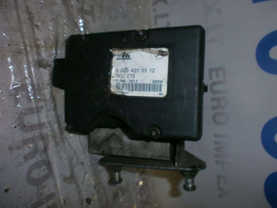 ABS blokas A0034310312 10099013272 , 10020400144  Mercedes-Benz CLK-CLASS 2003 1.8