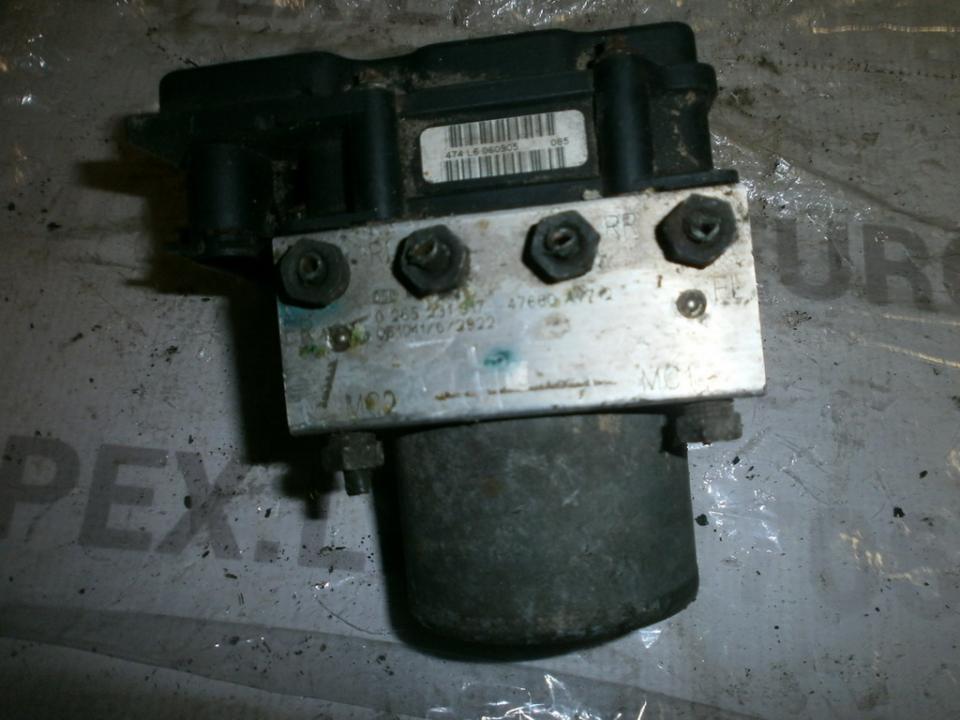 ABS blokas 0265231317 0265800334, 47660AV712 Nissan PRIMERA 1991 1.6