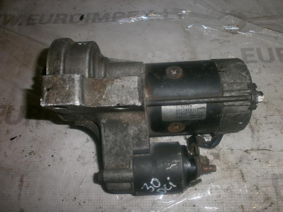 Starter Motor 8972878152 5192778 SAAB 9-5 1998 2.0
