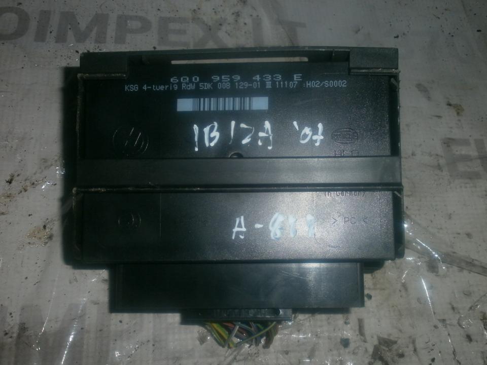 Komforto blokas 6q0959433e 5dk00812901 Seat IBIZA 2004 1.9