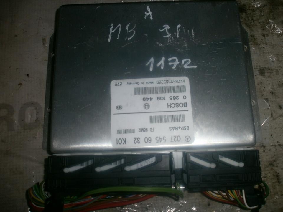 Блок управления АБС 0275456032 0265109449 Mercedes-Benz A-CLASS 1998 1.7