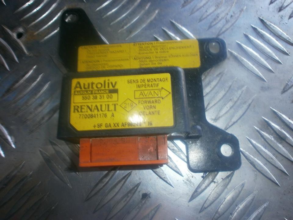 SRS AIRBAG KOMPIUTERIS - ORO PAGALVIU VALDYMO BLOKAS 7700841176A  Renault MEGANE 1998 1.6