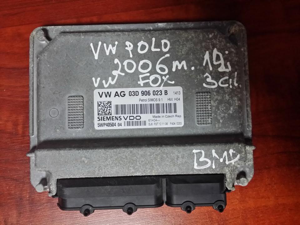 Variklio kompiuteris 03D906023B 5WP40504 Volkswagen POLO 1998 1.4