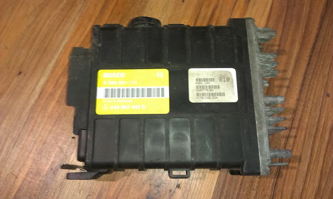 Variklio kompiuteris 0280000734 443907403d Audi 80 1993 2.0