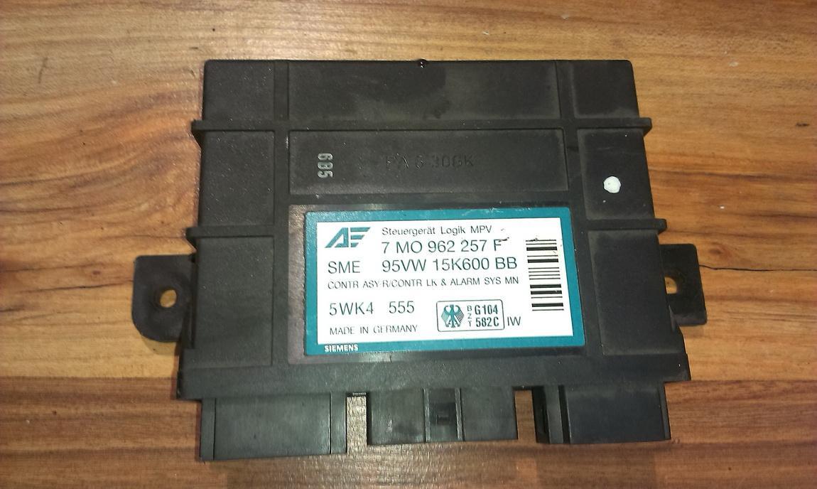 Komforto blokas 7mo962257f 95vw15k600bb Volkswagen SHARAN 1999 1.9