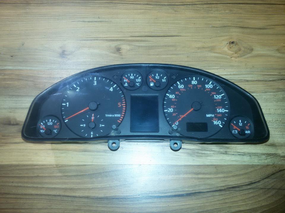 Speedometers - Cockpit - Speedo Clocks Instrument 4b0919930gx g750669h Audi A6 2008 2.0