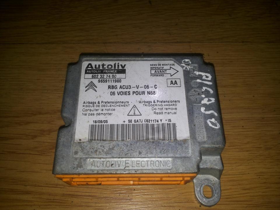 Airbag crash sensors module 9659111980 602327400 aa Citroen XSARA PICASSO 2003 1.8