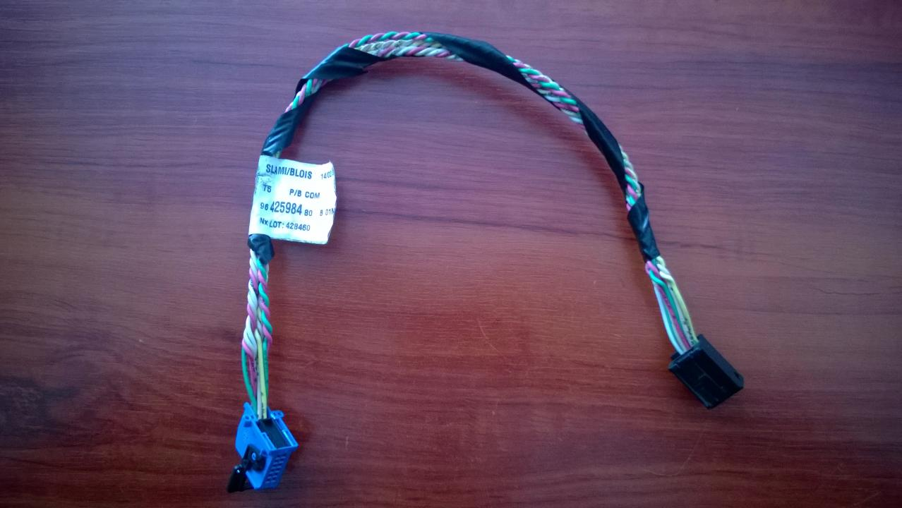 CD Changer wiring harness Peugeot 307 2003    2.0 9642598480