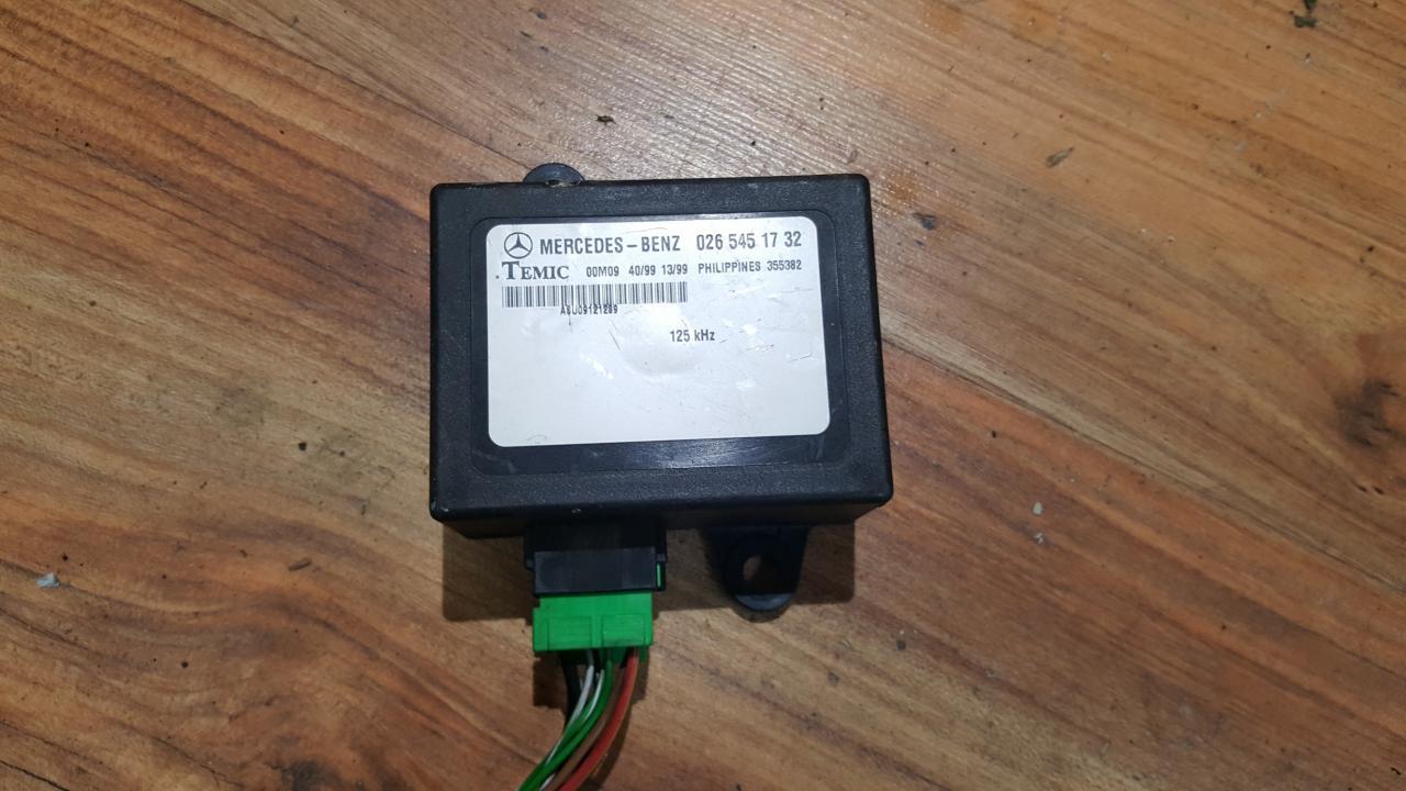 Imobilaizerio kompiuteris 0265451732 355382 Mercedes-Benz VITO 2002 2.2