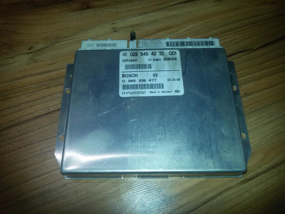 ESP kompiuteris 0265109477 0295454232 Mercedes-Benz A-CLASS 1998 1.7