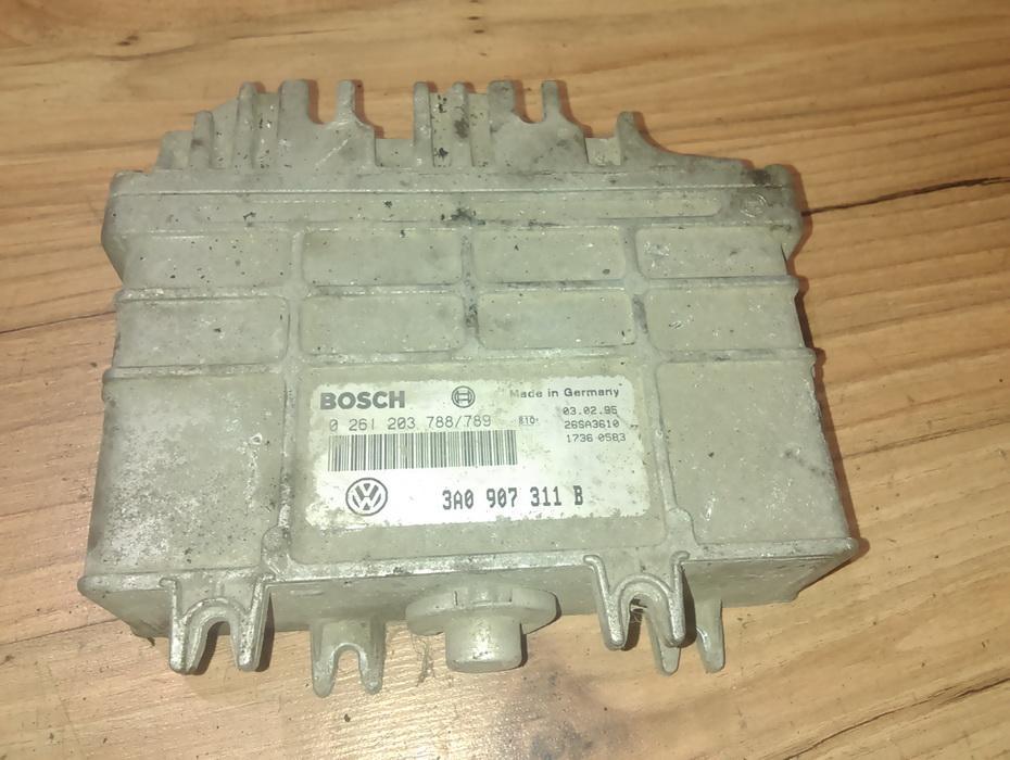 Блок управления двигателем 0261203788 3a0907311b Volkswagen PASSAT 1993 1.9