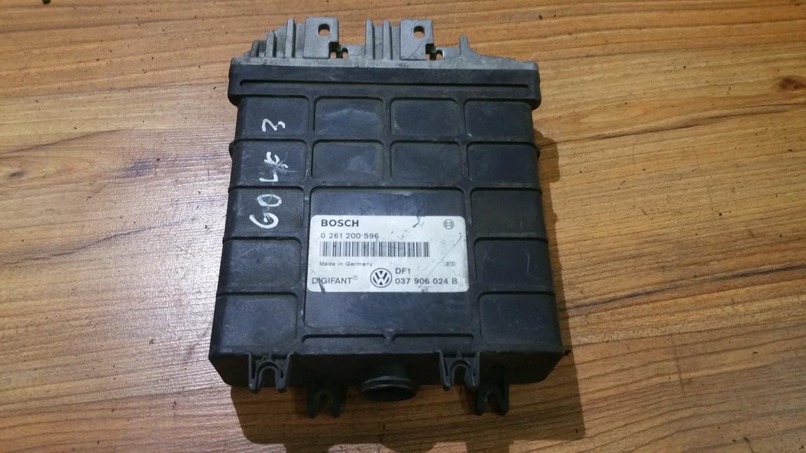 Блок управления двигателем 0261200596 037906024b, df1 Volkswagen GOLF 2007 1.9