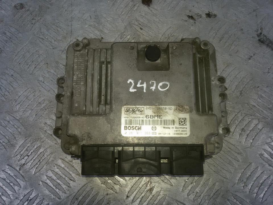 ECU Engine Computer (Engine Control Unit) 0281011263 4m51-12a650-nd, 6bme Ford FOCUS 2004 1.8