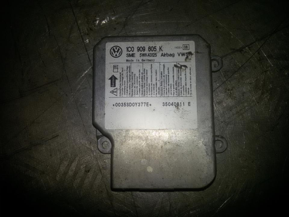 SRS AIRBAG KOMPIUTERIS - ORO PAGALVIU VALDYMO BLOKAS 1c0909605k 5wk43125, 35040811e Volkswagen POLO 1998 1.4