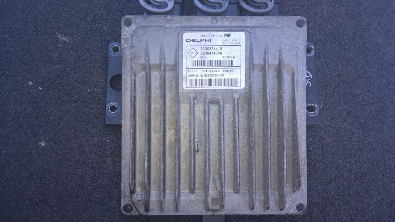 Variklio kompiuteris 8200334419 8200414354, R0410B024C, 82543333JXG Renault SCENIC 1998 2.0