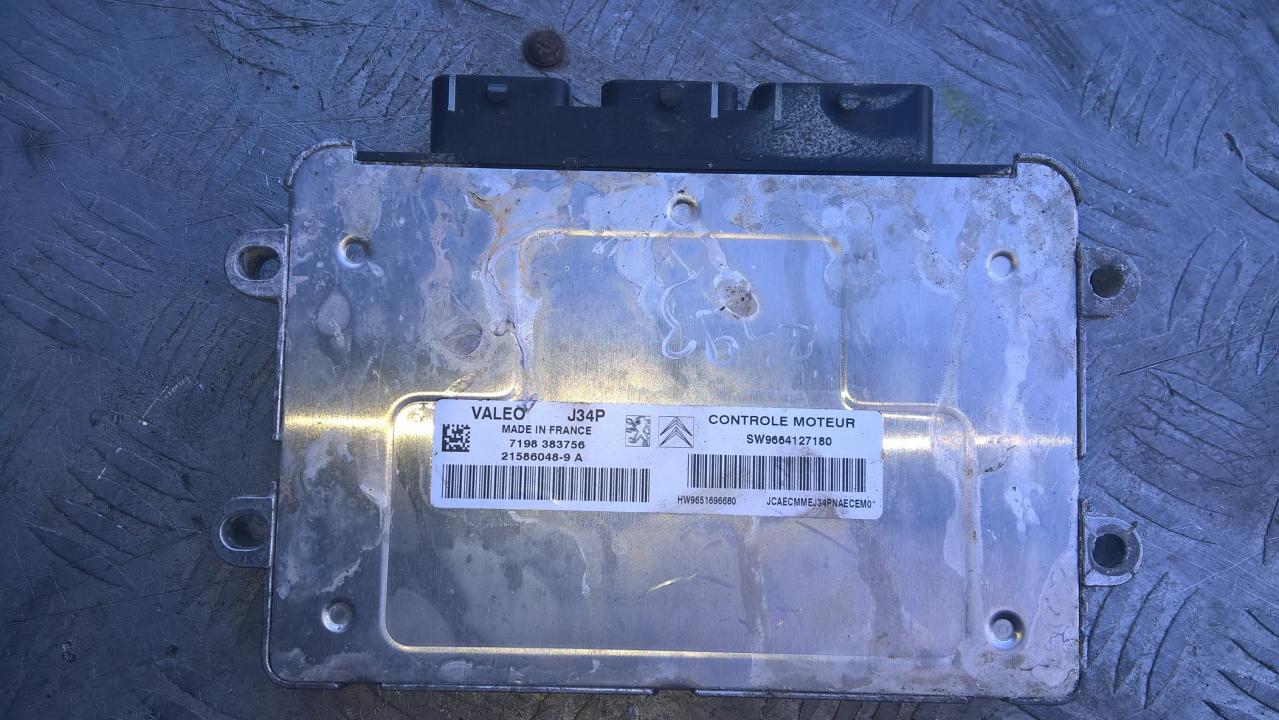 ECU Engine Computer  SW9664127180 7198383756, 21586048-9A, J34P, HW9651696680 Citroen C2 2005 1.4