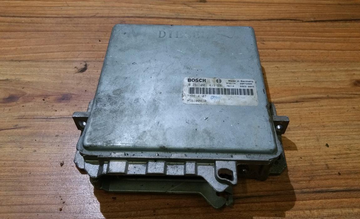 Variklio kompiuteris 0281001419 msb100410, 28rtd000, 69236845, 970114, type4107 Honda ACCORD 1999 2.3