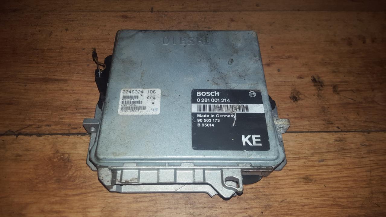 Variklio kompiuteris 0281001214 90563173 Opel OMEGA 1995 2.5