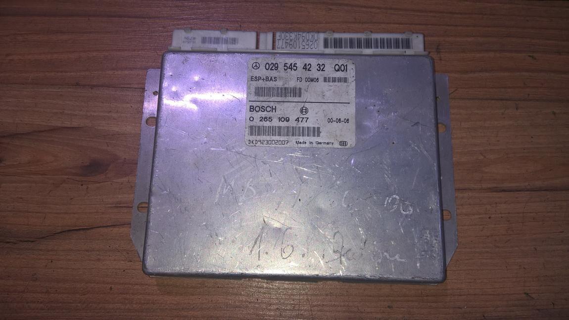 ESP PML BAS CONTROL UNIT ECU Mercedes-Benz A-CLASS 1999    1.7 0295454232