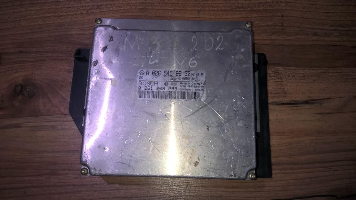 Variklio kompiuteris 0265456532 0261206299 Mercedes-Benz C-CLASS 1998 2.2