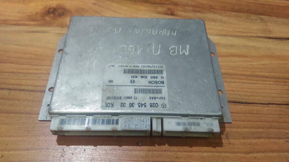 ESP PML BAS CONTROL UNIT ECU Mercedes-Benz A-CLASS 1999    1.6 0265453632