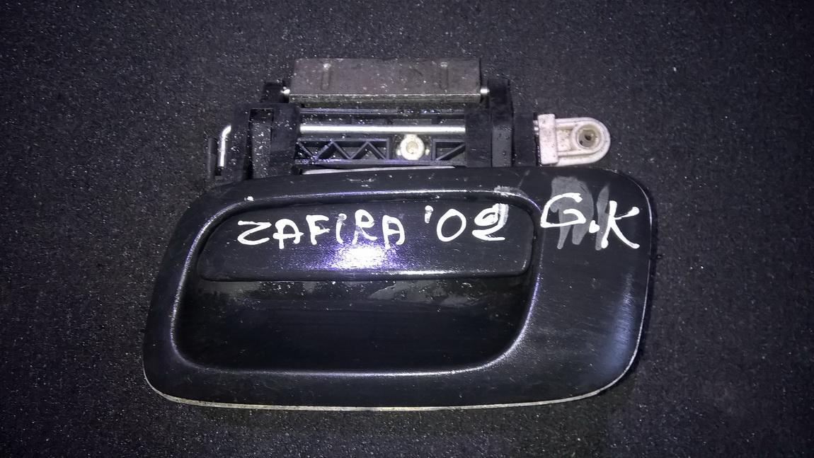 Door Handle Exterior, rear left side NENUSTATYTA NENUSTATYTA Opel ZAFIRA 2002 2.2
