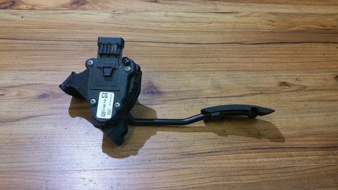 OPEL VECTRA C Akseleratoriaus pedalas 9186726 6PV008323-00 4459397