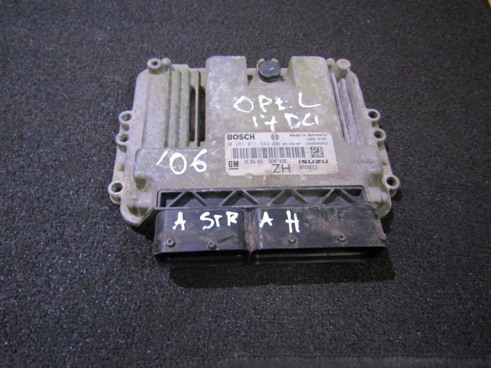 Блок управления двигателем 0281011943 8973785712 Opel ASTRA 1998 2.0