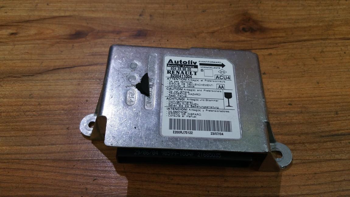 Airbag crash sensors module 8200411004 604289600 Renault MEGANE SCENIC 1997 1.6