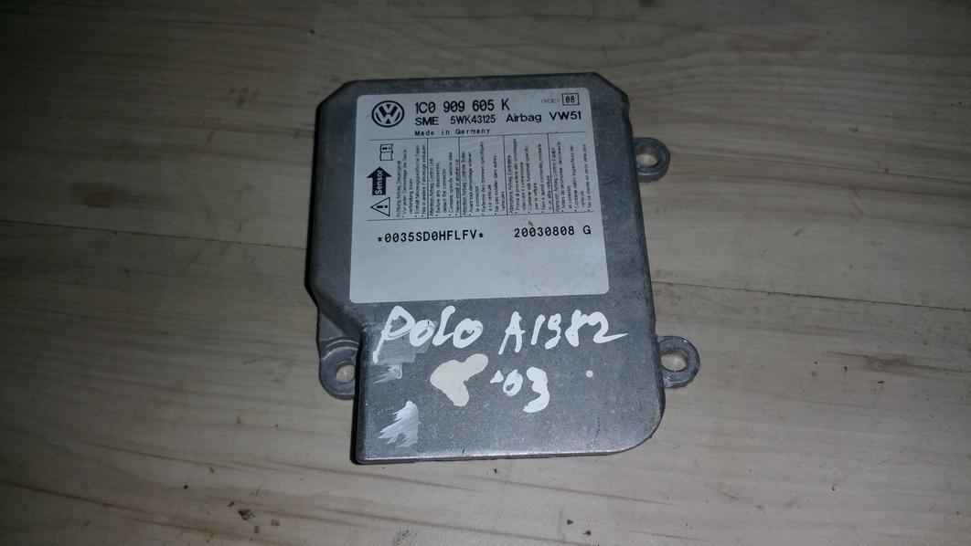 Блок управления AIR BAG  1c0909605k 5wk43125, vw51, 20030808g Volkswagen POLO 2011 1.2