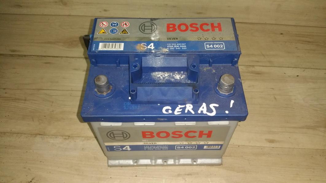 Baterija - Akumuliatorius 0092s40020 552400047, 470a, 52ah Smart FORTWO 2005 0.7
