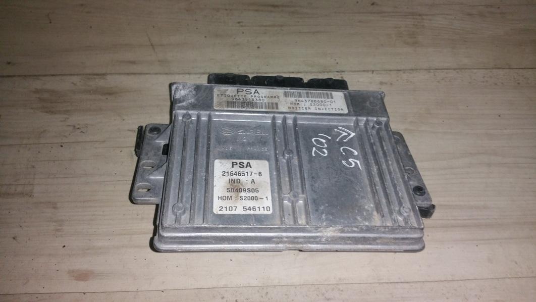 Variklio kompiuteris 964378668001 9643786680-01, s2000-1, 21646517-6 Citroen XSARA PICASSO 2000 2.0