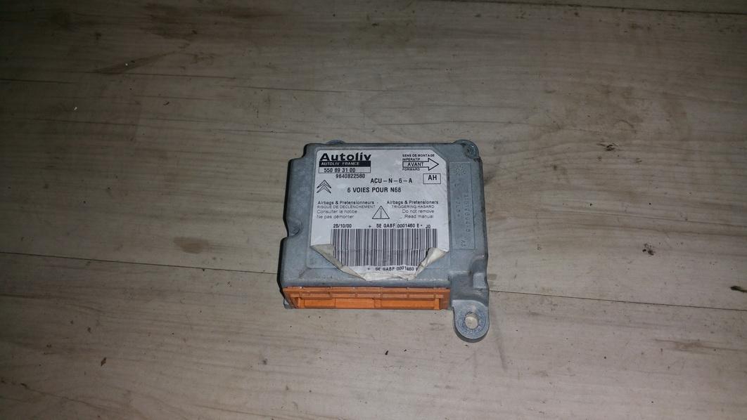 Airbag crash sensors module 550893100 9640822580 Citroen XSARA PICASSO 2000 2.0