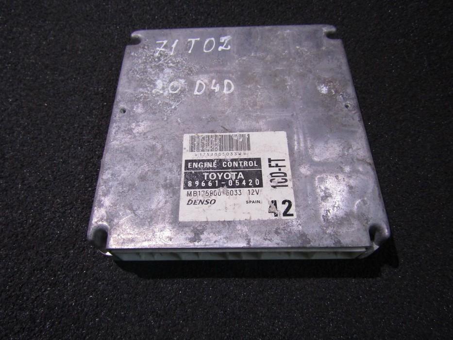 Variklio kompiuteris 8966105420 mb175800-5033 Toyota AVENSIS 2011 2.0