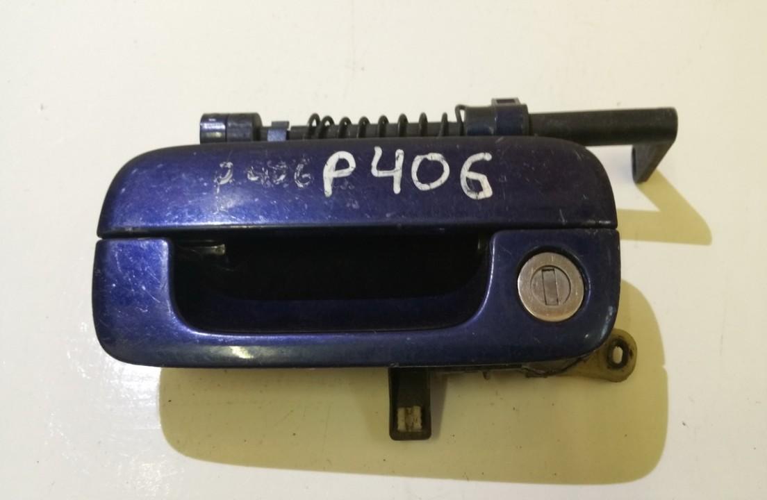 Door Handle Exterior, front left side 9621858877 n/a Peugeot 406 1998 2.1