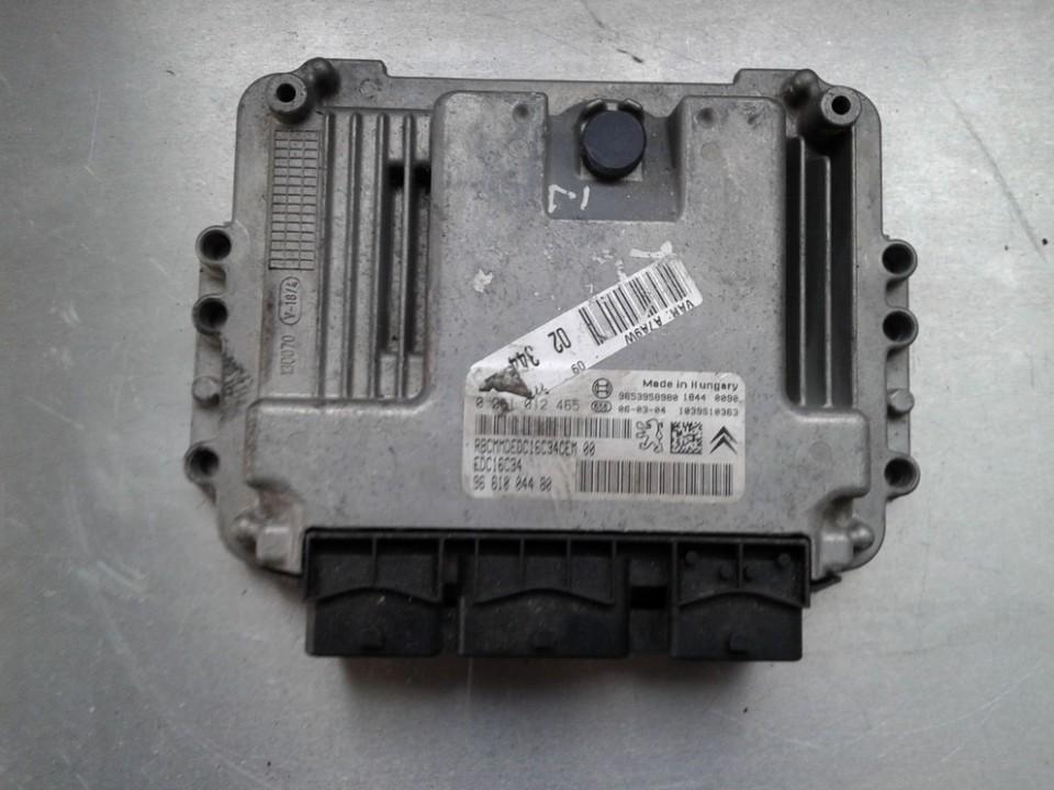 Блок управления двигателем 0281012465 RBCMMDEDC16C34CEM00, EDC16C34, 9661004480 Peugeot 207 2009 1.4