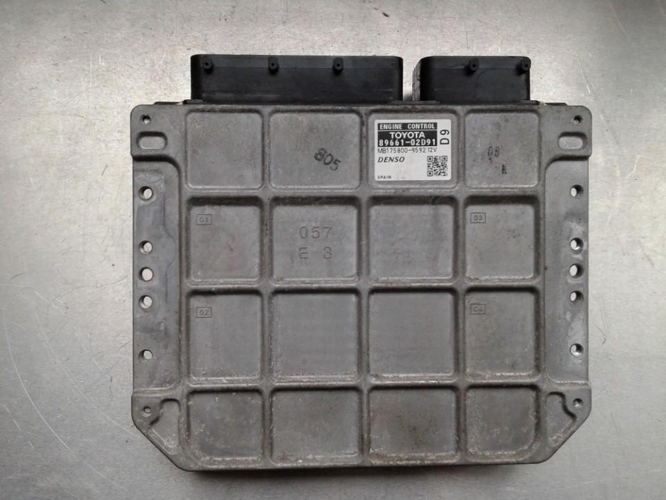 Variklio kompiuteris 8966102D91 MB175800-9592 Toyota AURIS 2008 2.0