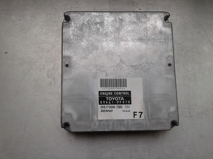 Блок управления двигателем 896610F070 MB275000-7383 Toyota COROLLA VERSO 2007 2.2