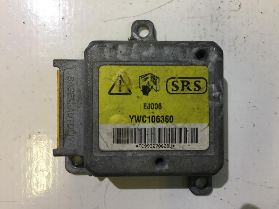 SRS AIRBAG KOMPIUTERIS - ORO PAGALVIU VALDYMO BLOKAS YWC106360 NENUSTATYTA Land Rover FREELANDER 1998 1.8