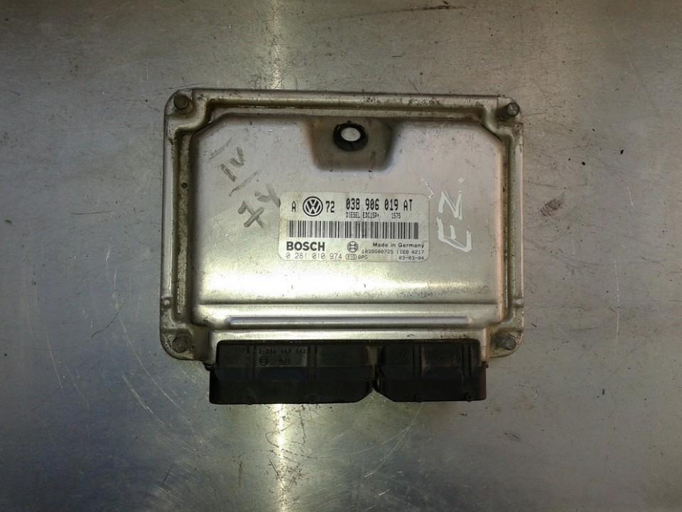 Variklio kompiuteris 038906019AT 0281010974 Volkswagen GOLF 1987 1.6