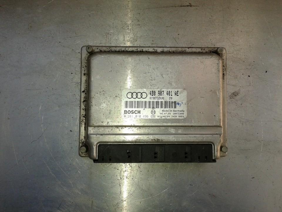 Variklio kompiuteris 4B0907401AE 0281010496 Audi A6 2001 2.4